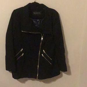 Guess black coat.